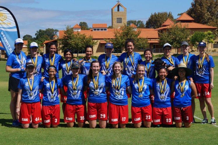 Kaos Blue 2 medals