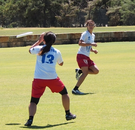 Audrey Chen & Ellie Murray-Yong - Kaos Ultimate Frisbee Club Perth